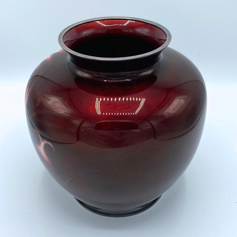 Ando Jubei Meiji Japanese Cloisonne Vase