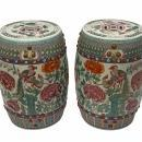 Chinese Famille Verte Porcelain Garden Seats