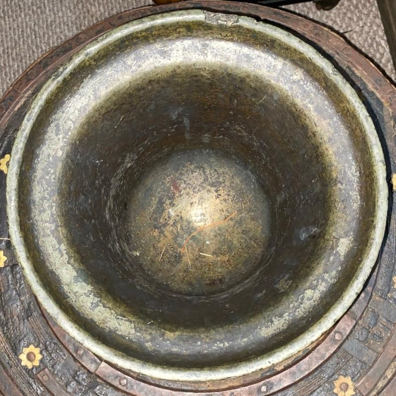 Massive Renaissance Period Bronze Mortar Dated 1617