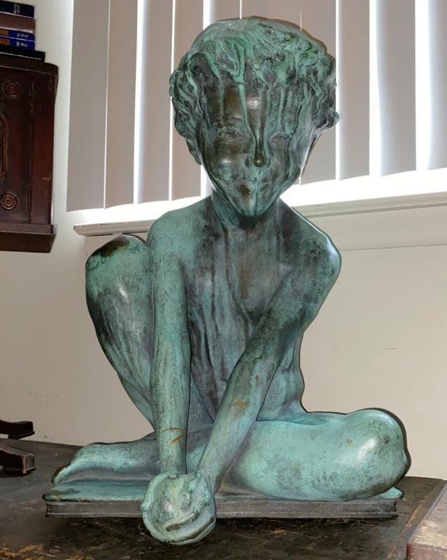 Figurative Bronze Fountain by Willard Dryden Paddock (1873 1956)