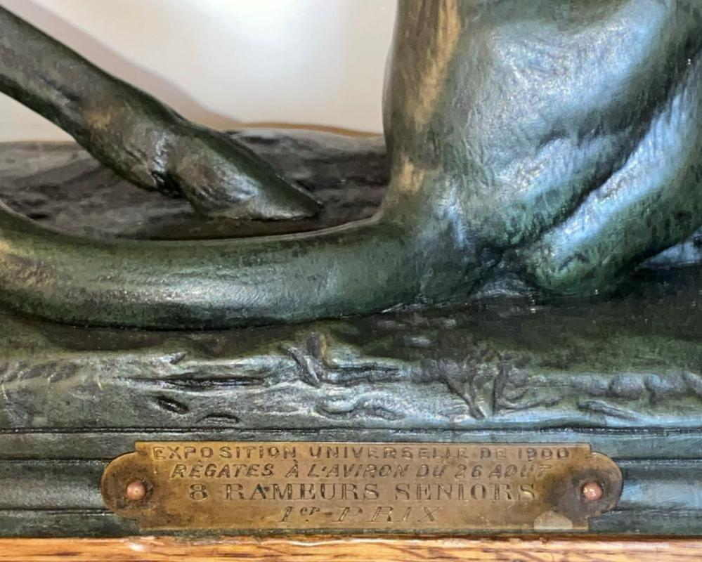 1900 Exposition Universelle Olympic Regatta Grand Prize Trophy Sculpture After Barye