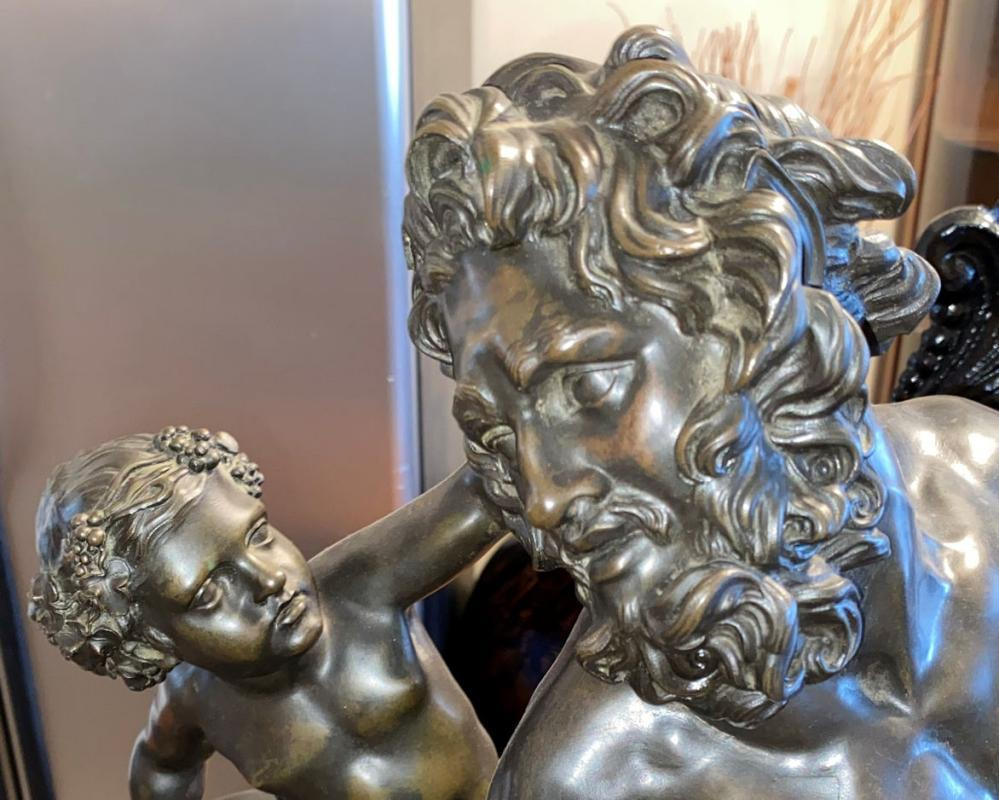 Centaur Tamed by Bacchus Grand Tour Bronze Sculpture