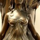 Hippolyte Francois Moreau (1832-1927) Figural Art Nouveau Vase -- 34.5 in