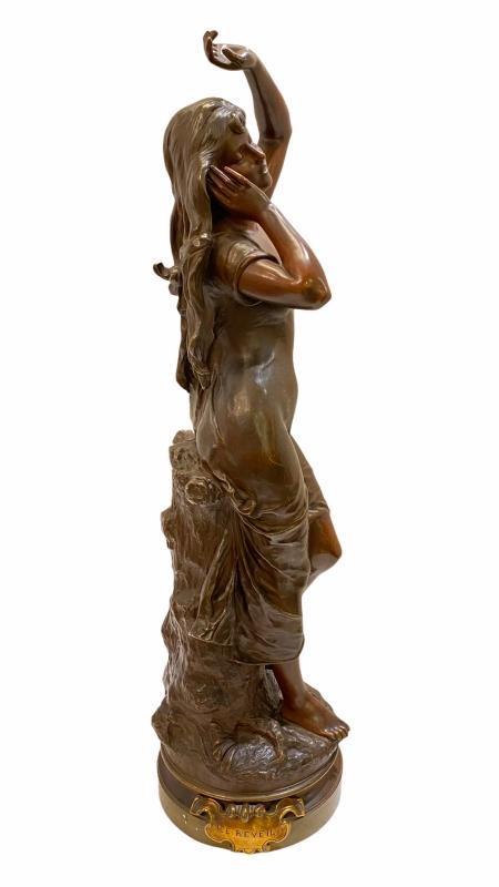 Le Reveil Bronze After Hippolyte Francois Moreau