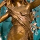 La Pensee Bronze Sculpture After Eugene Marioton (1854–1933)