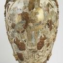 Meiji Japanese Satuma Vases Urns -- 58 in, 147 cm