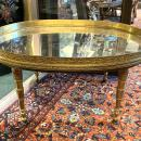 French Empire Style Oval Mirrored Coffee Table