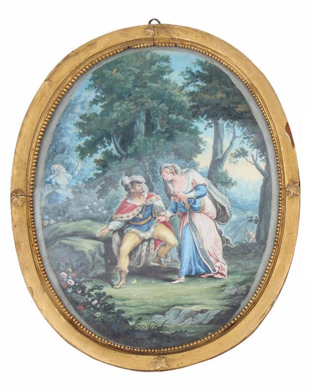 18th Century European School Figurative Watercolor Paintings