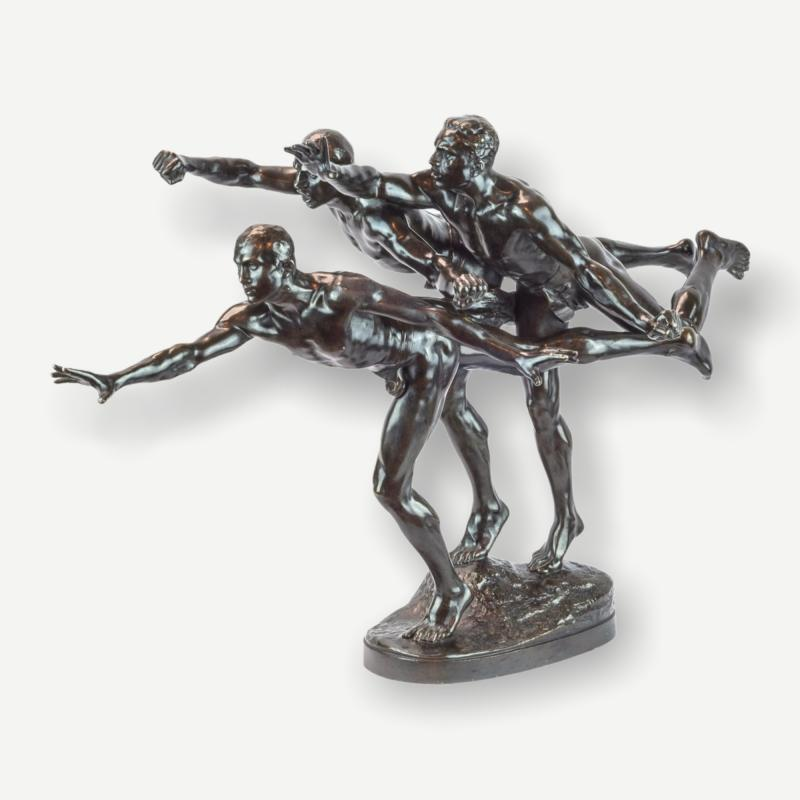 Au But (The Finishing Line), Alfred Boucher (1850-1934) cast by Siot-Decauville
