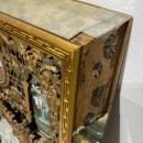 Chinese Giltwood and Glass Mirror Painting