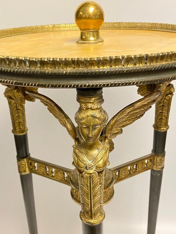 Empire Style Bronze and Siena Marble Gueridon Side Table