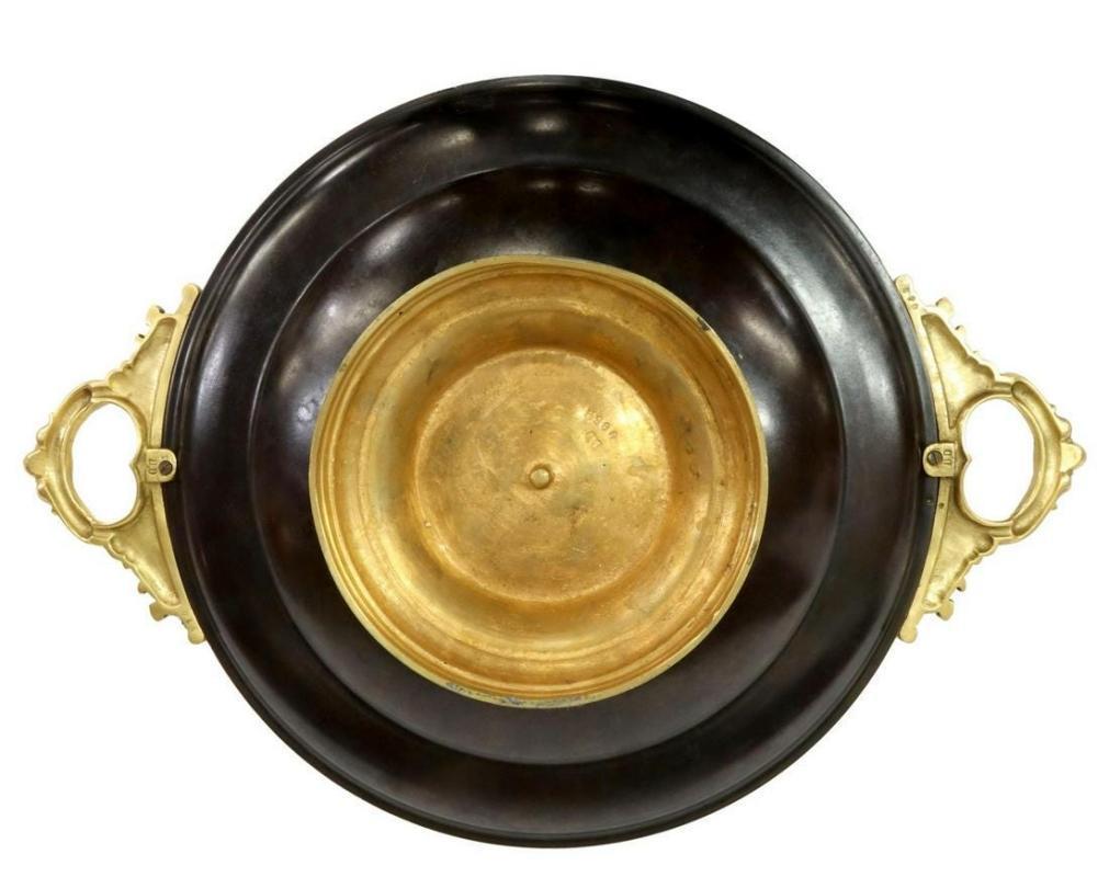 Greek Neoclassical Bronze Tazza by Marcel Debut (1865-1933)