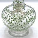 Irish Enameled Glass Wine Decanter with Thompson Crest