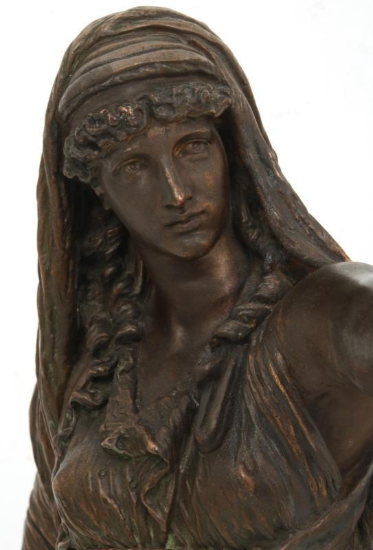 Orientalist Patinated Metal Figure by Prof. P. Otto