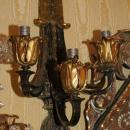 Pair Dark Patinated and Gilt Bronze Louis XVI Style Sconces