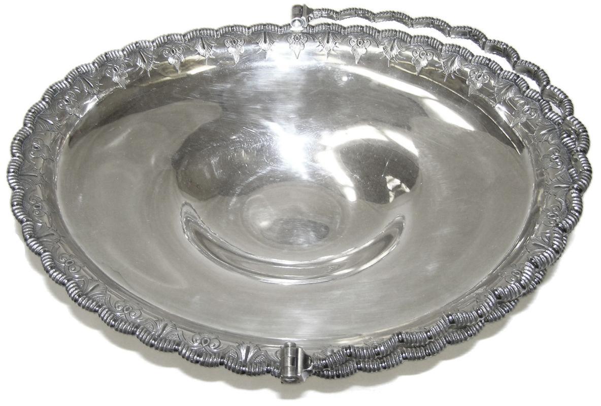 Antique Tiffany Sterling Silver Fruit Basket c1860