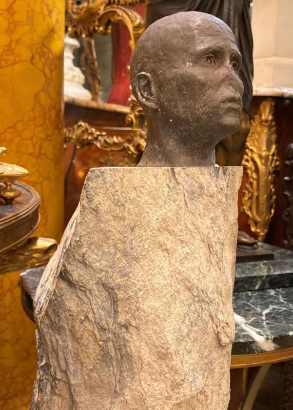 Bryon Draper Marble and Bronze Figurative Sculpture