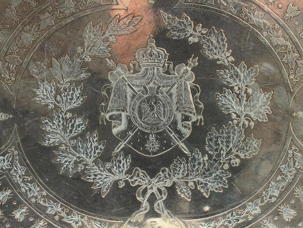 Christofle Napoleonic Silverplated Tray Circa 1844-1862