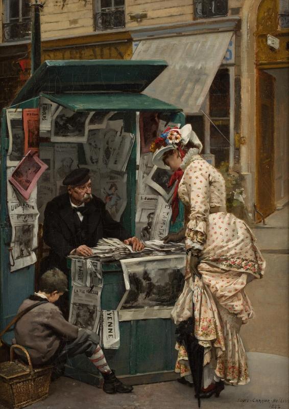 Louis Carrier-Belleuse (1848-1913) Oil on Canvas