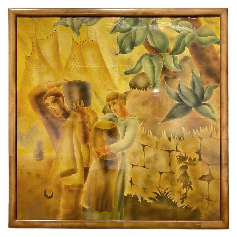 Mexican Art Deco Mural Painting