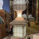 Monumental Beaded and Faceted Crystal Campana Urns (62.5 in, 159 cm)
