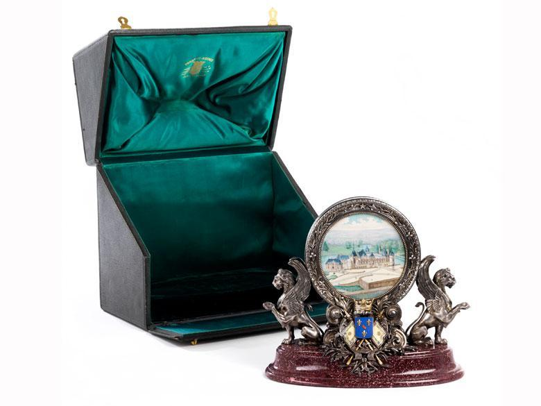 Royal French Presse-papier Paperweight Commissioned by Henri d'Orleans re. Chateau de Chantilly