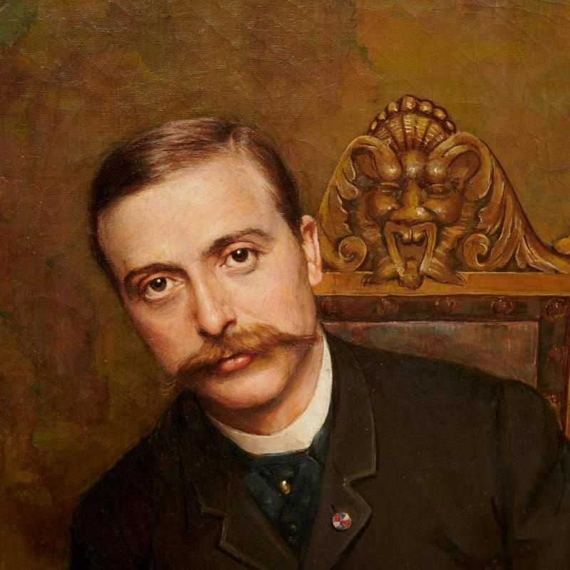 Alfred Bryan Wall (1861-1935) Self Portrait