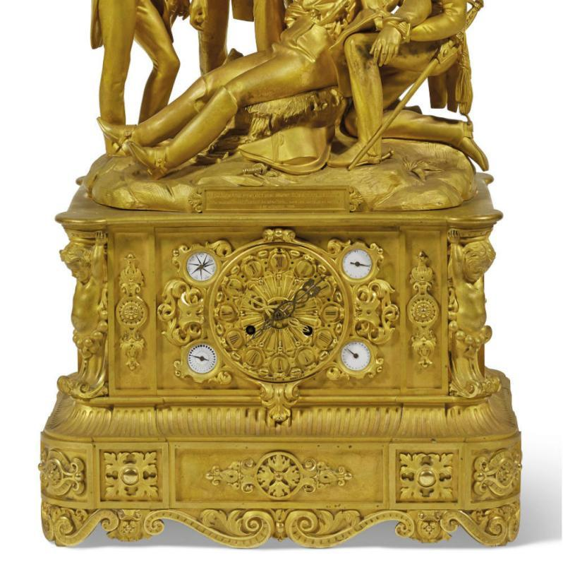 Historic Louis-Philippe Ormolu Mantel Clock c1838