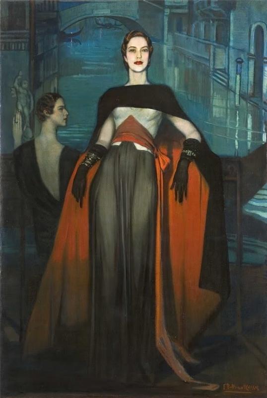 Federico Masses Portrait of Jean Bonnardel, Countess of Montgomery