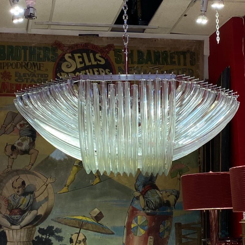 Venini Glass Chandelier by Ludovico Diaz de Santillana (1931-1989)