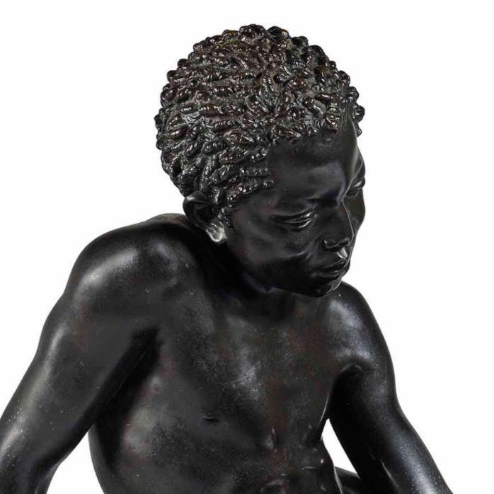 Charles Auguste Lebourg (1829-1906) Orientalist Bronze Sculpture