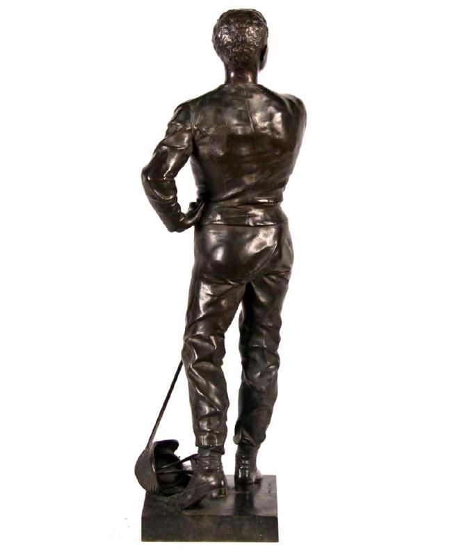 Bronze Fencer Sculpture by Luca Madrassi (1848-1919)