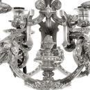 Victorian English Silver Candelabrum by Jon Samuel Hunt of London Dated 1857