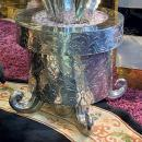 Art Deco Style Silvered Bronze Potted Aloe Sculptures