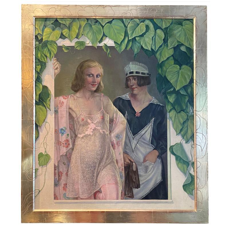 Herbert Rolf Schlegel (1889-1972) Dual Female Portrait