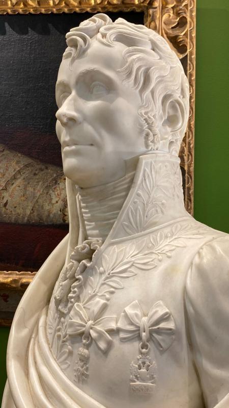 Jérôme Napoleon Bonaparte Marble Bust from Early 19th Century