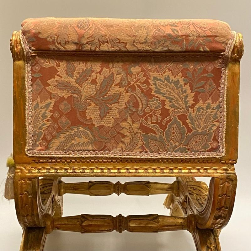 Louis XVI Style Giltwood Upholstered Bench