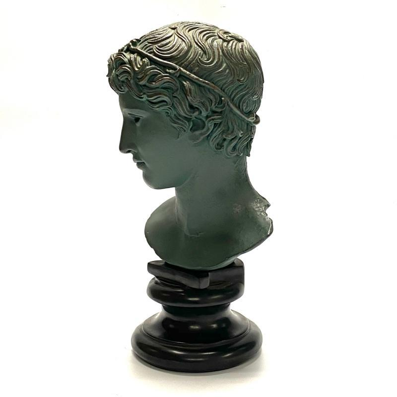 Greek Apollo Bust from Alva Studios Dated 1955