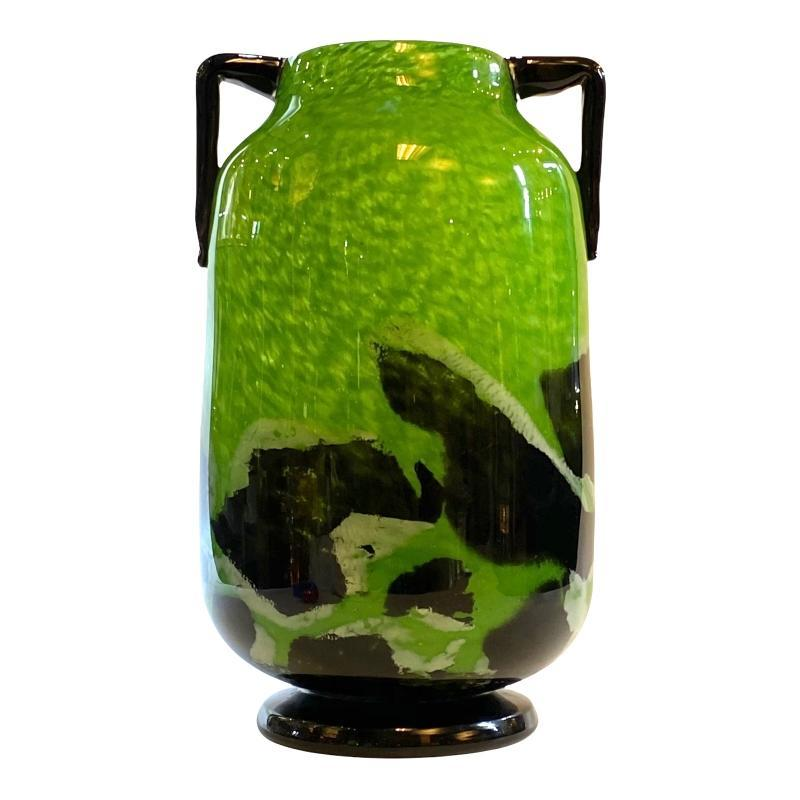 French Art Deco Glass Vase — 16.25 in, 41.3 cm