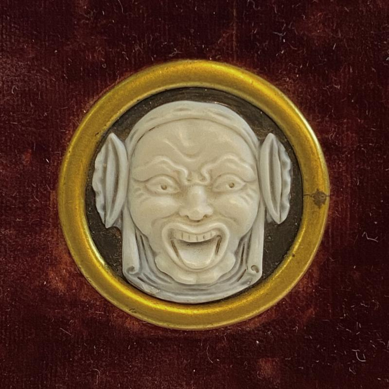 Antique Cartier Grotesque Medallions Depicting Tragedy and Comedy