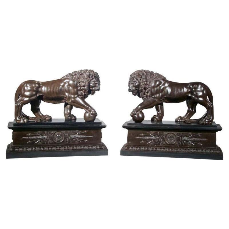 Medici Lion Grand Tour Sculptures