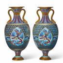 Christopher Dresser Mintons Faux Cloisonne Vases