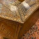 Pair Syrian Hardwood Inlaid Armchairs