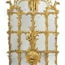 Pair Chippendale Chinoiserie Style Giltwood Pier Mirrors