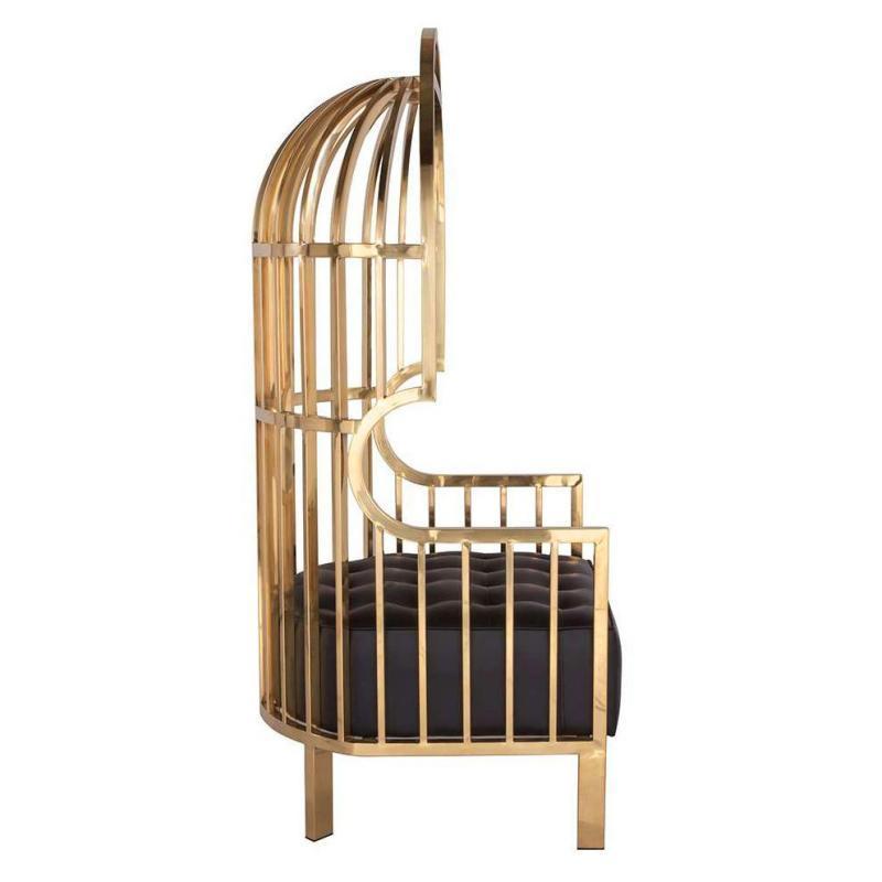 Pair Porter Birdcage Chairs After Eichholtz Bora Bora Design