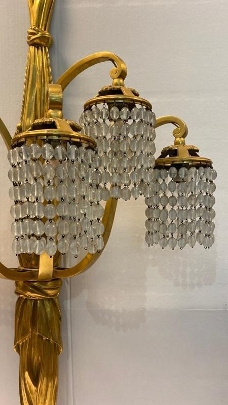 Louis Süe and André Mare Art Deco Bronze Six-Light Sconces