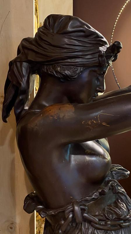 Orientalist Slave Torchiere from Rochelle Sepenuk Estate