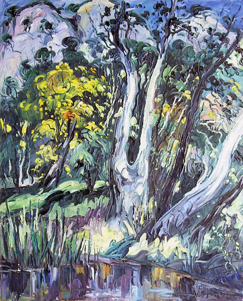 Wooded Landscape Oil Painting by Emeric (1919-2012)