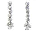 Vintage Platinum & Diamond Earrings 3.8 Carats