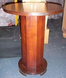 French Art Deco Red Mahogany Side Table